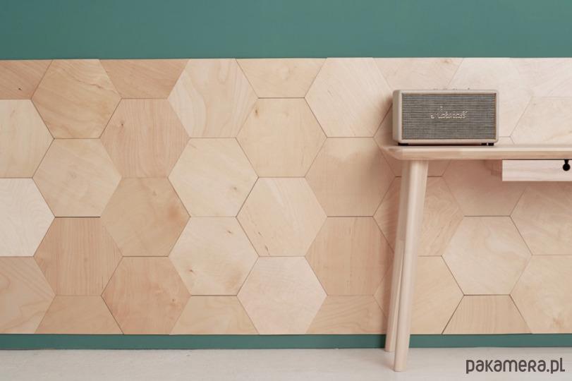 Panel ścienny Hexagon Naturalny Kafle Panele Pakamerapl