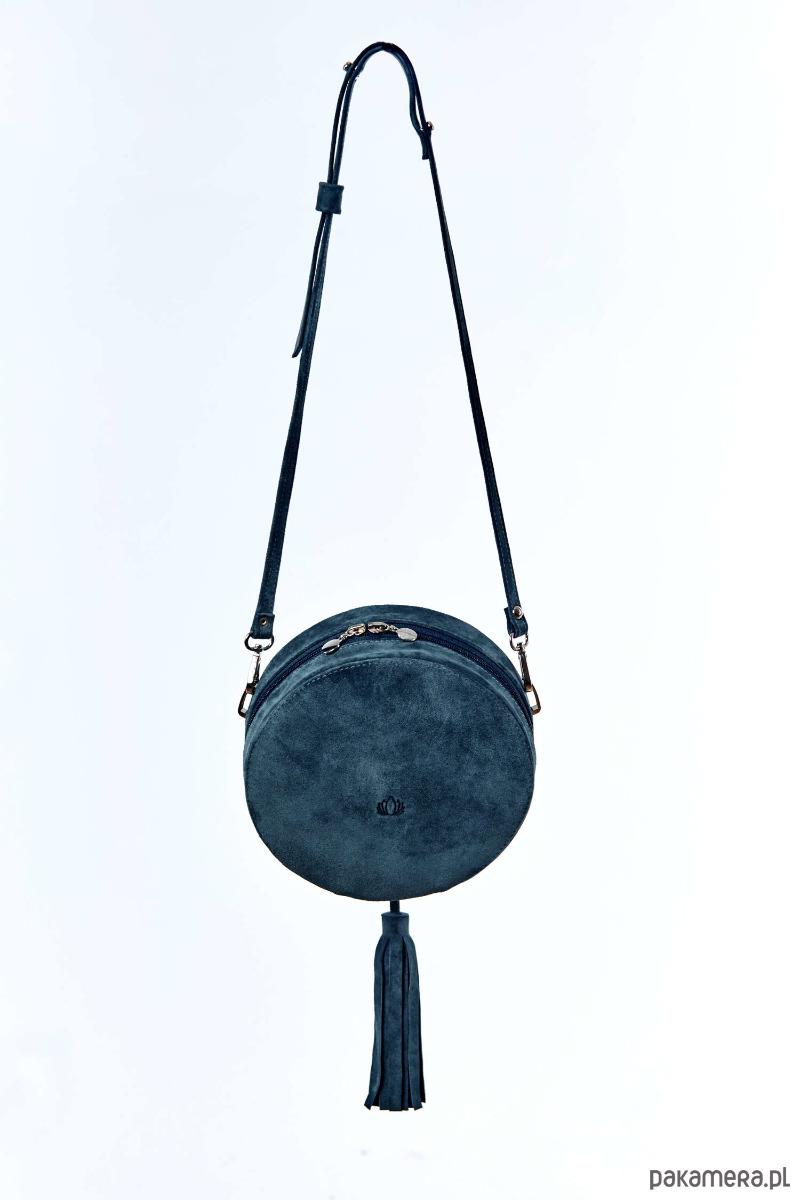 c923f6bee9310 Torebka damska okrągły kuferek szmaragdowy etno - torby na ramię ...