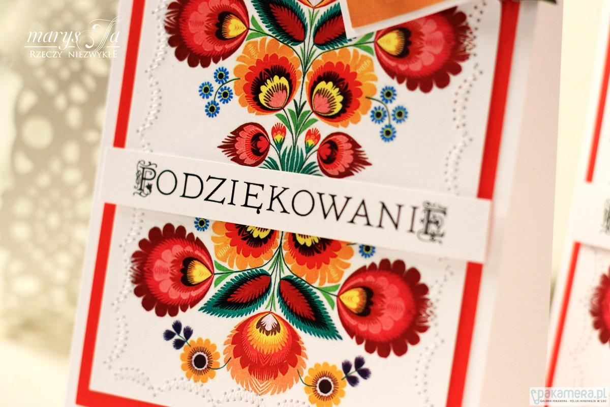f192d8cfc9dfe9 FOLK-LOVE kartka na podziękowanie - kartki okolicznościowe - wydruki ...