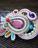 Secret Garden- broszka soutache